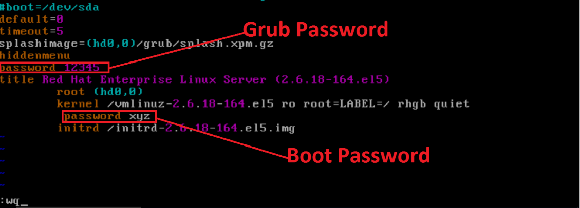 grub Security